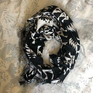 Tribal print blanket scarf